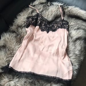 Zara lace tank -pink size M
